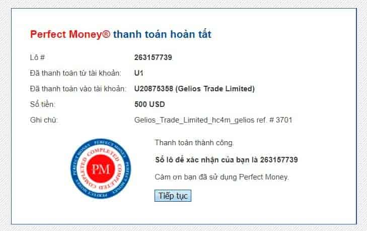 proof deposit gelios - [PROBLEM] HYIP - Gelios Trade Review - Profit up to 1.72% daily
