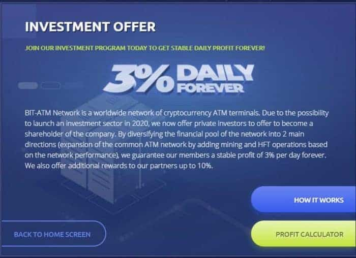 bit atm investment plan e1603983367922 - [SCAM - STOP INVESTING] BIT-ATM: Earn 3% daily and forever!